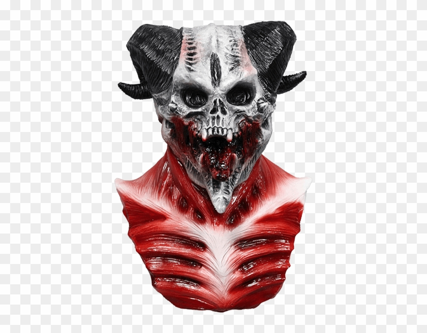 Brand New Latex Devil Skull Mask.