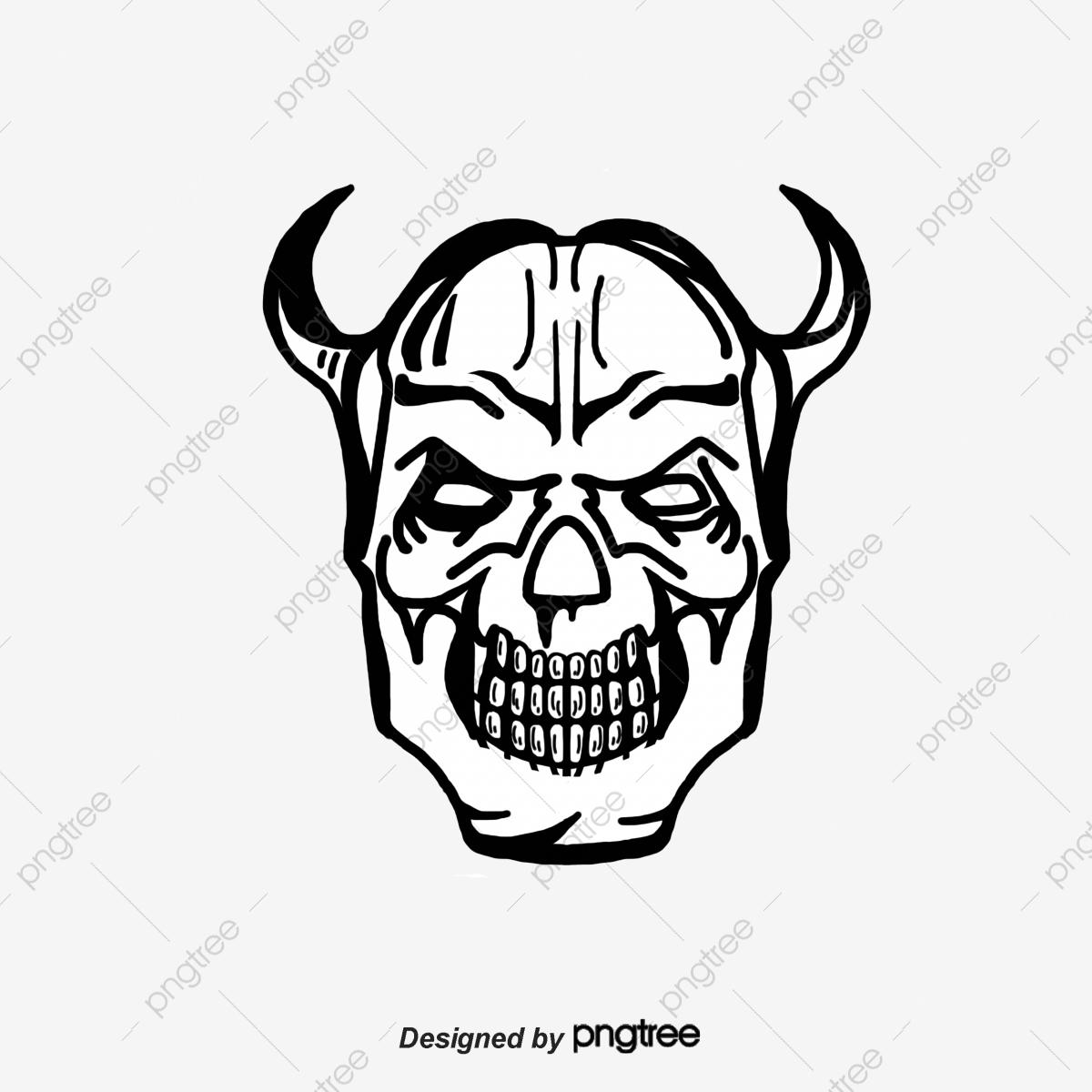Devil Skull, Skull Clipart, Skull, Demon PNG Transparent Clipart.