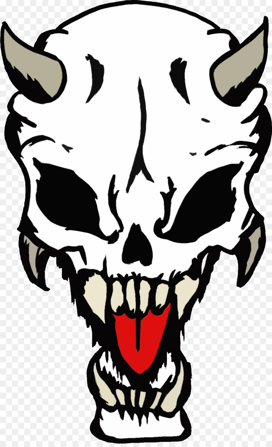 Skull Drawing png download.