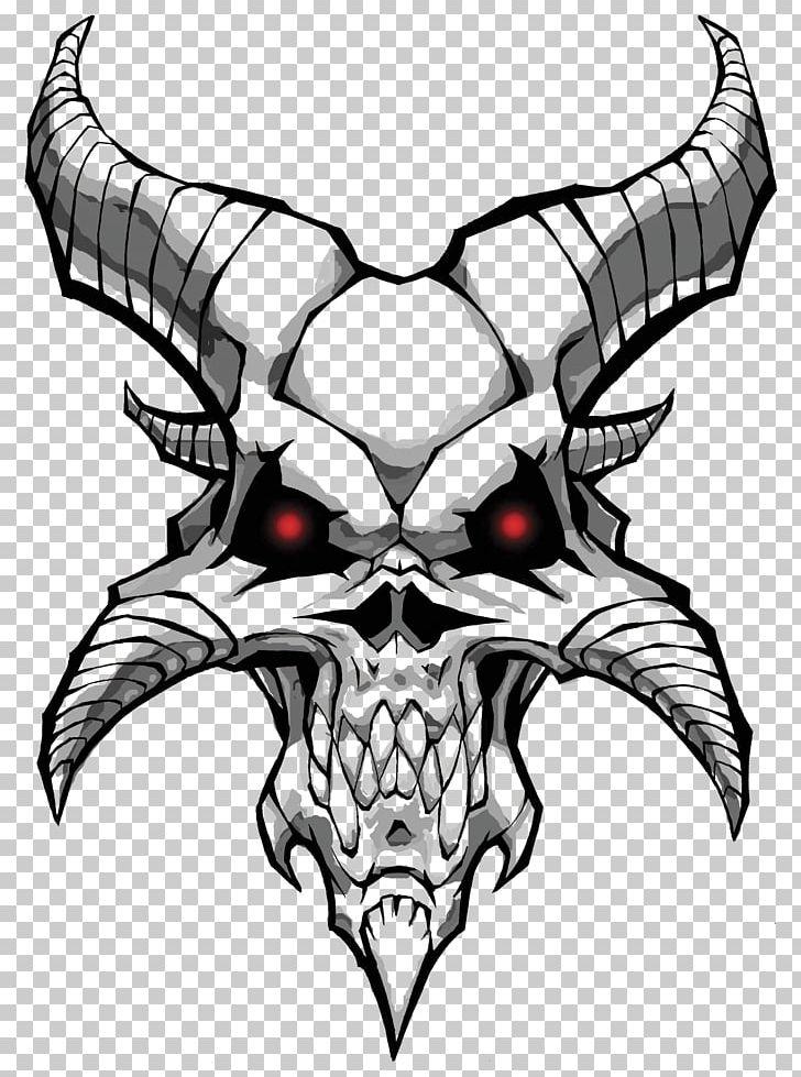 Drawing Devil Demon Skull PNG, Clipart, Admin, Angel, Art, Black And.