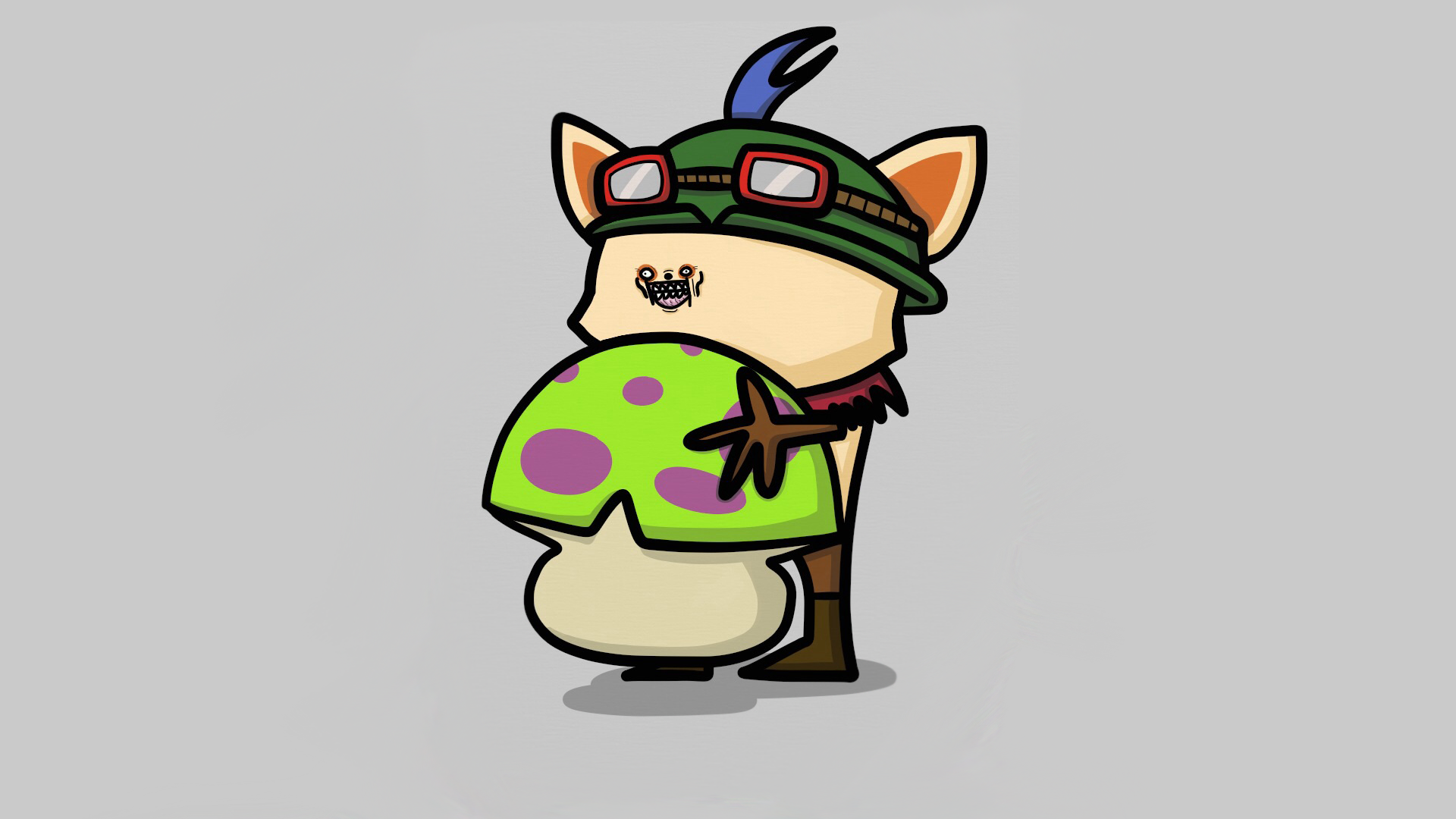 I drew Teemo on my iPad! : leagueoflegends.