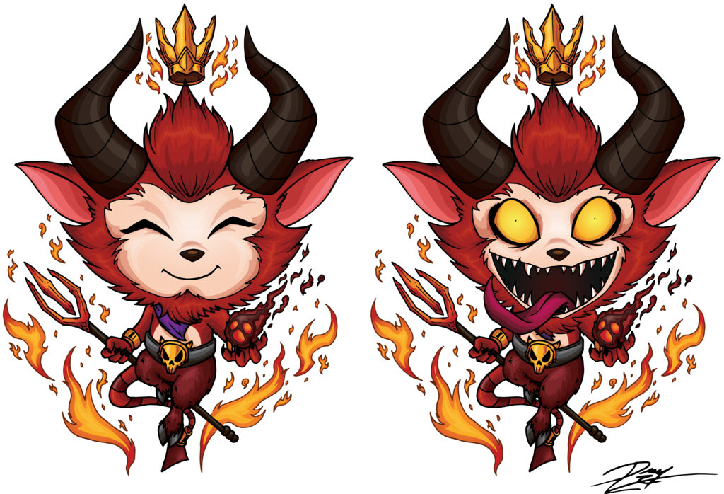 Little Devil Teemo Clipart.