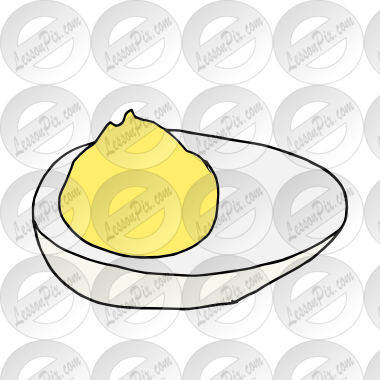 Deviled Egg Picture for Classroom / Therapy Use.