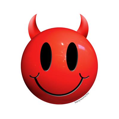 Devilish Smiley Face Clipart.