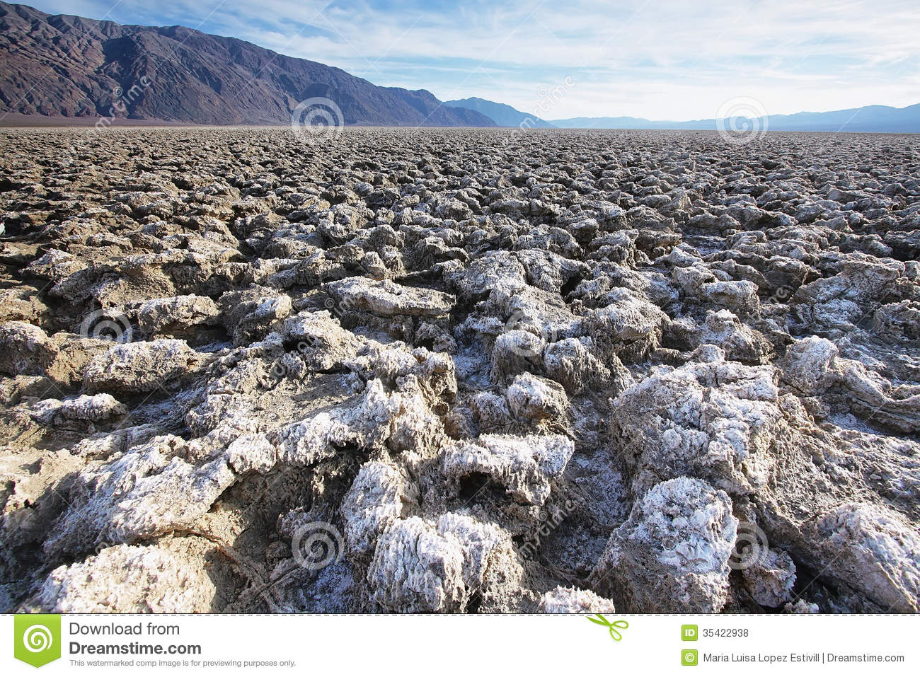 Devils Golf Course In Death Valley Royalty Free Stock Photos.