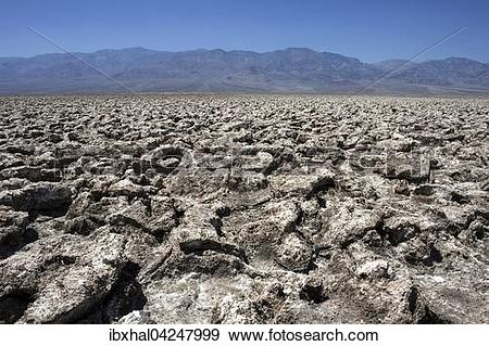 Stock Photograph of Salt structures on Devil's Golf Course.