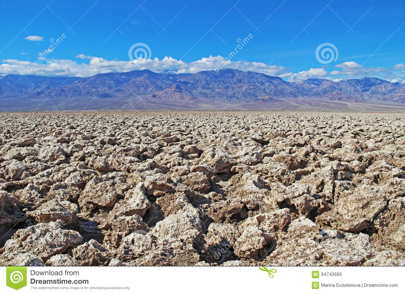 Devil's Golf Course In The Badwater Basin. USA. Stock Photo.