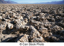 Stock Image of Salt devils golf course, death valley.