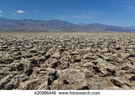 Stock Images of Devil's Golf Course, Death Valley k20986446.