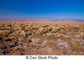 Stock Photo of Devils Golf Course, Death Valley, California.