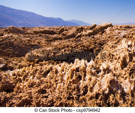 Clip Art of Devils Golf Course Death Valley.