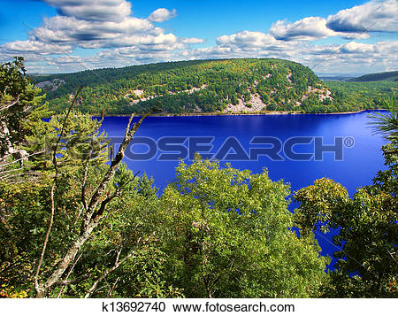 Stock Photography of Devils Lake State Park Wisconsin k13692740.