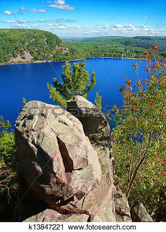 Stock Photography of Devils Lake State Park Wisconsin k13847221.