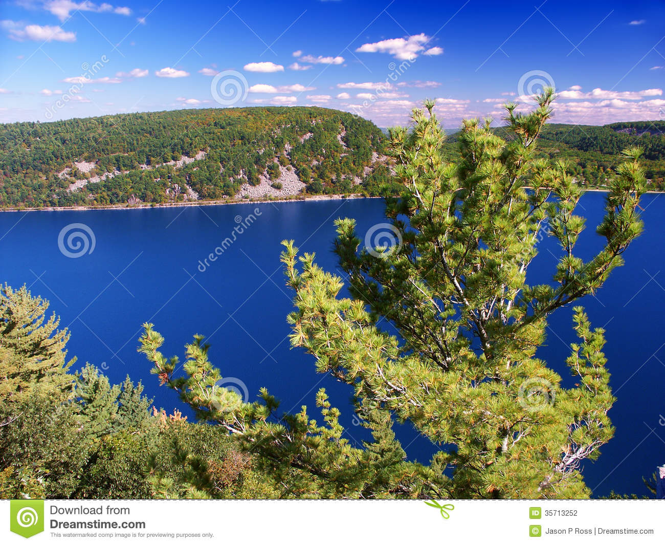 Devils Lake State Park Wisconsin Stock Photography.