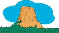 Fifty US States: Wyoming Clipart.