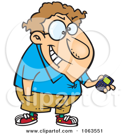 Clipart Devious Nerd With A Gadget 1.