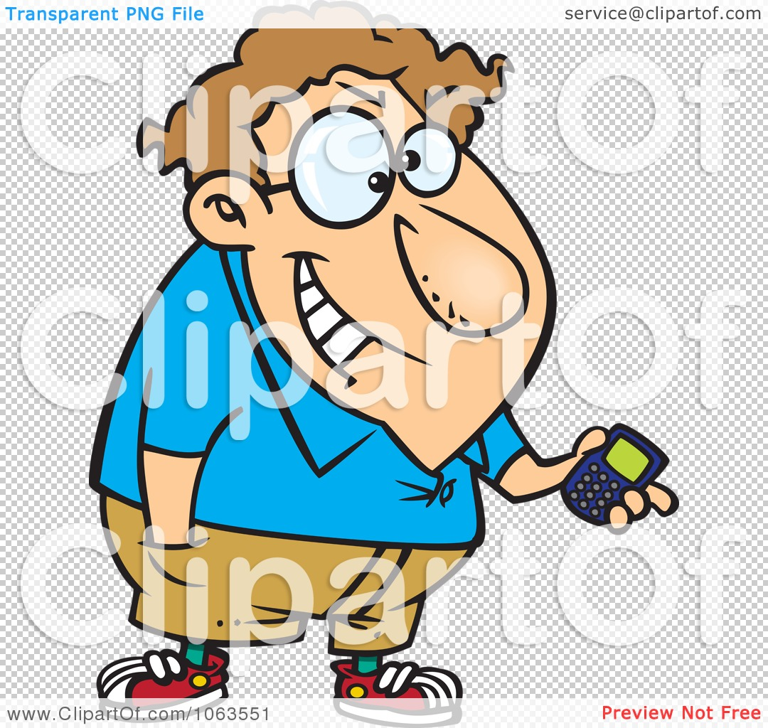 Clipart Devious Nerd With A Gadget 2.