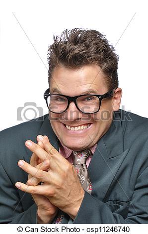 Stock Photo of Devious nerd.