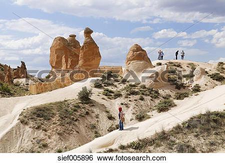Stock Images of Turkey, Central Anatolia Region, Cappadocia, tuff.