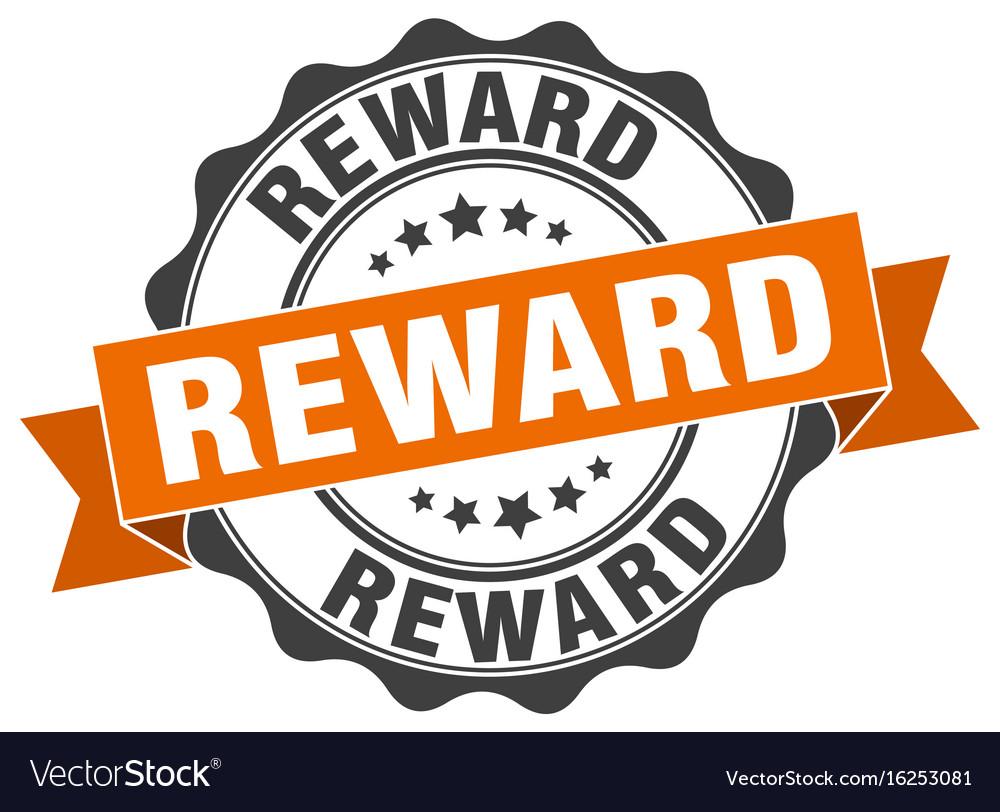 Reward stamp sign seal.