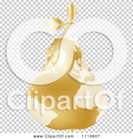 Clipart Gold Map Pear With A Dew Drop.