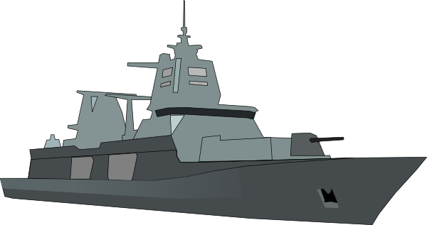 Destroyer Ship Clipart.