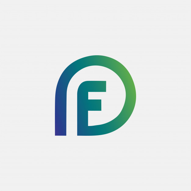 Letter pf df logo abstract Vector.