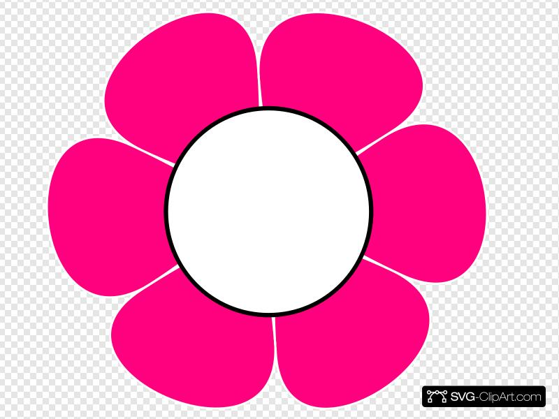 1 Pink Flower Clip art, Icon and SVG.