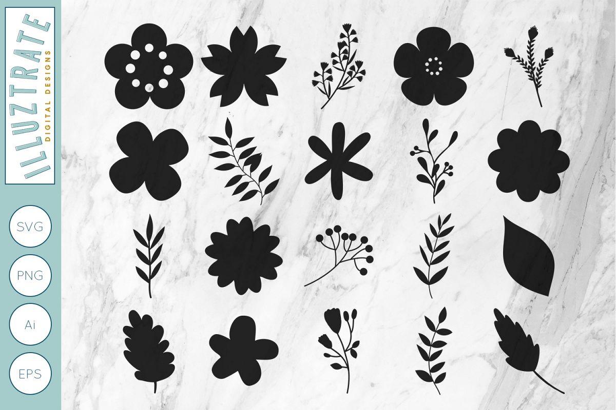 Flowers SVG Cut File.