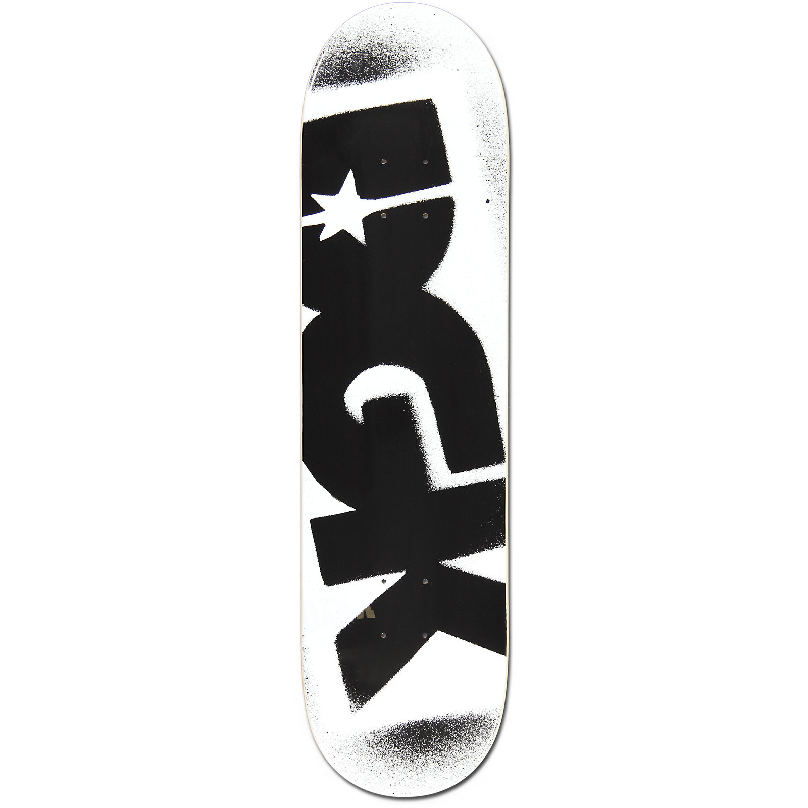 "DGK ""DGK Logo"" Deck White and Black 8.25."