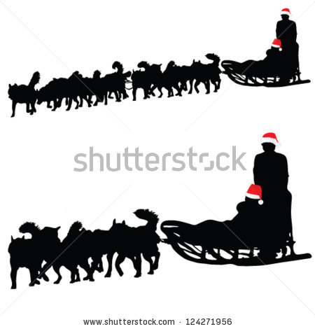Dog Sled Vector Stock Photos, Royalty.