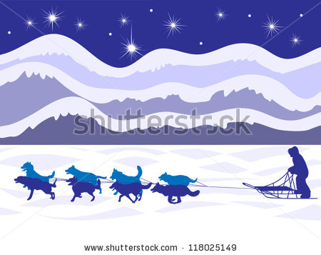Dog Sled Stock Images, Royalty.