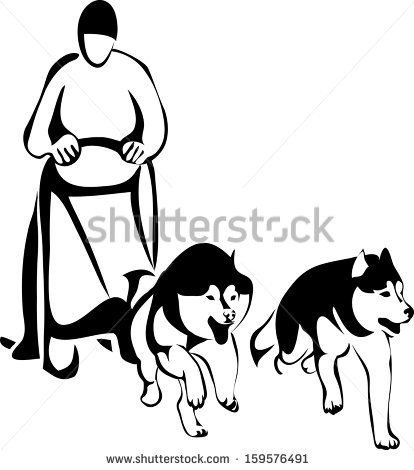 Dog Sled Race Stock Photos, Royalty.