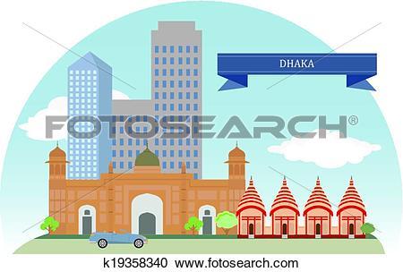 Clipart of Dhaka, Bangladesh k19358340.