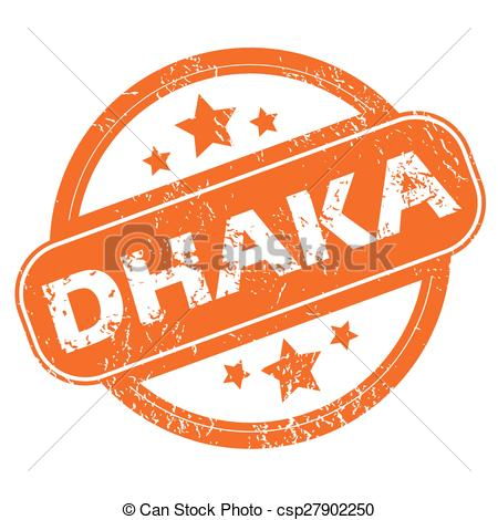 Clipart Vector of Dhaka rubber stamp.