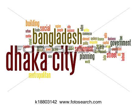 Clip Art of Dhaka City word cloud k18803142.