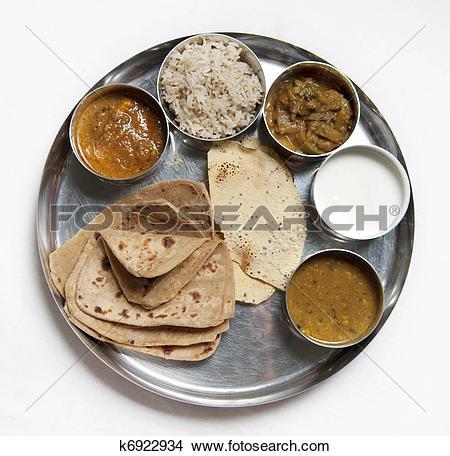 Stock Photography of Gujarati Thali k18977900.