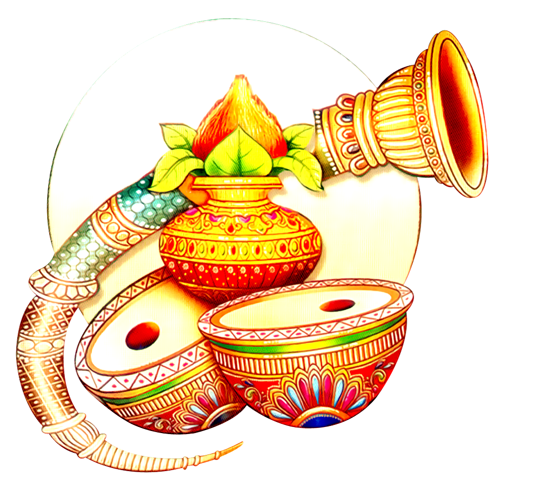 Wedding thali clipart.