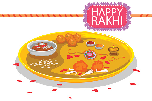 Indian Thali Clip Art, Vector Images & Illustrations.
