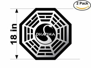 Details about dharma logo 2 Stickers 18 Inches Sticker Decal.