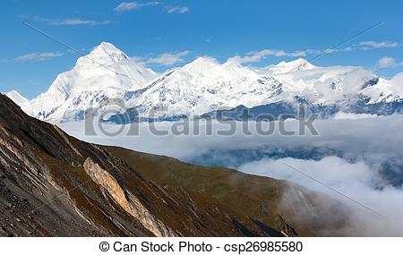 Pictures of Mount Dhaulagiri.