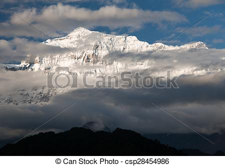 Pictures of Evening view of Gurja Himal.