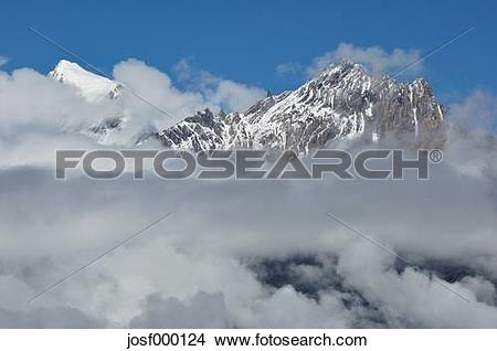 Stock Photo of Asia, Nepal, Western Region, View of dhaulagiri.