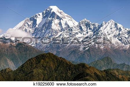 Stock Photography of View of mount Dhaulagiri.