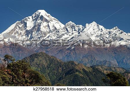 Pictures of panoramatic view from Jaljala pass of Dhaulagiri.