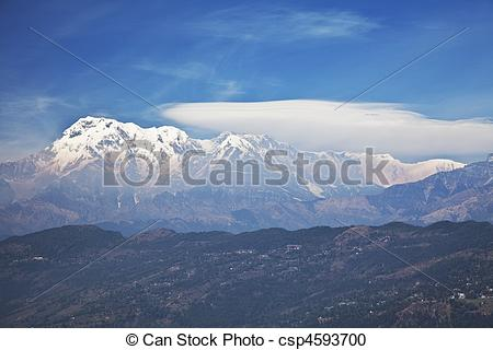Stock Photography of Dhaulagiri.