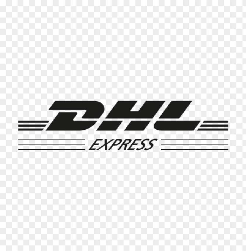 dhl express black vector logo.