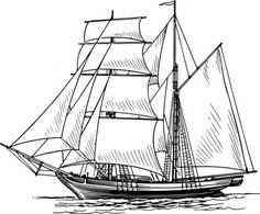 Sailing Ship Free Vectors.