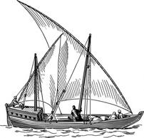 Dhow clipart.