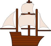 Sailing Ship Free Vectors.